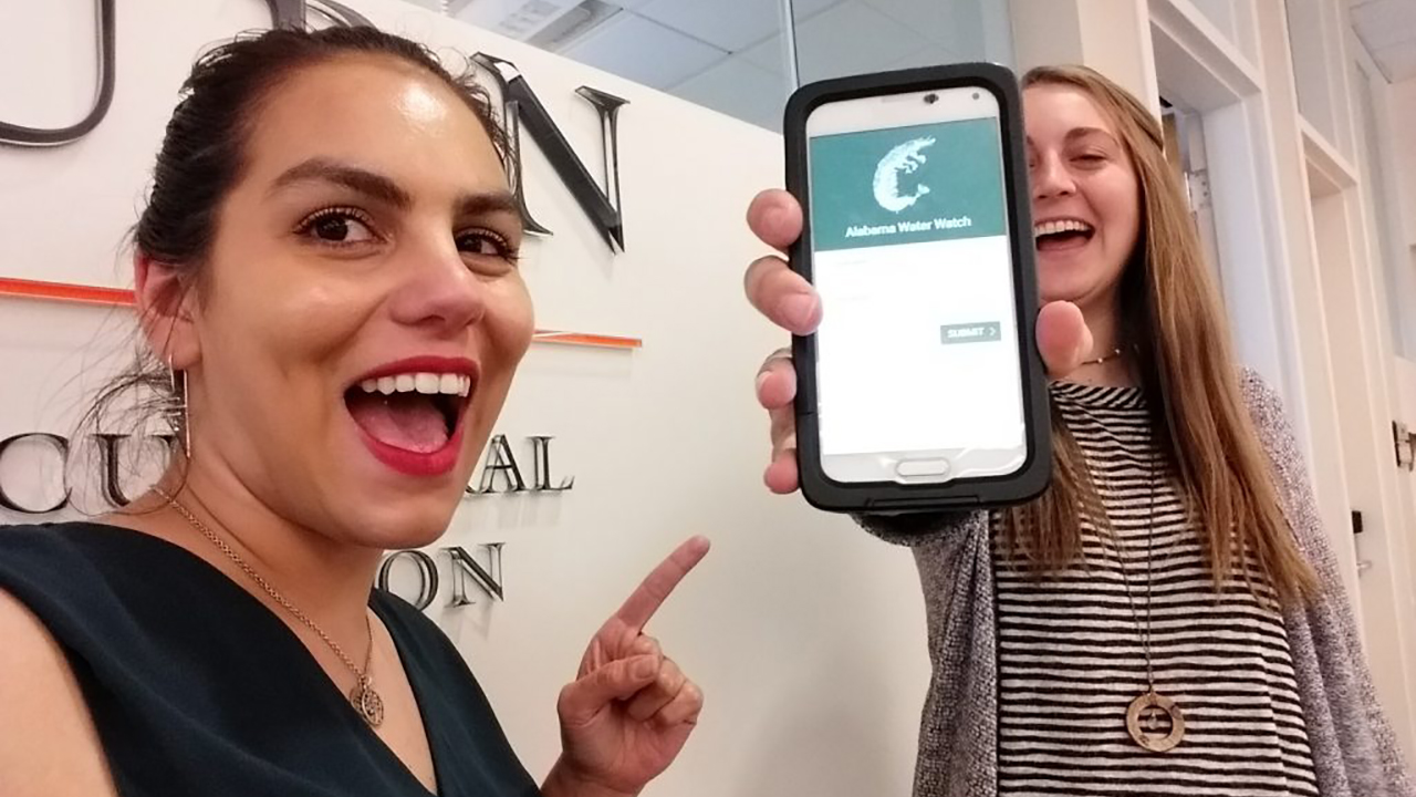 Carolina and Sydney with Our Application