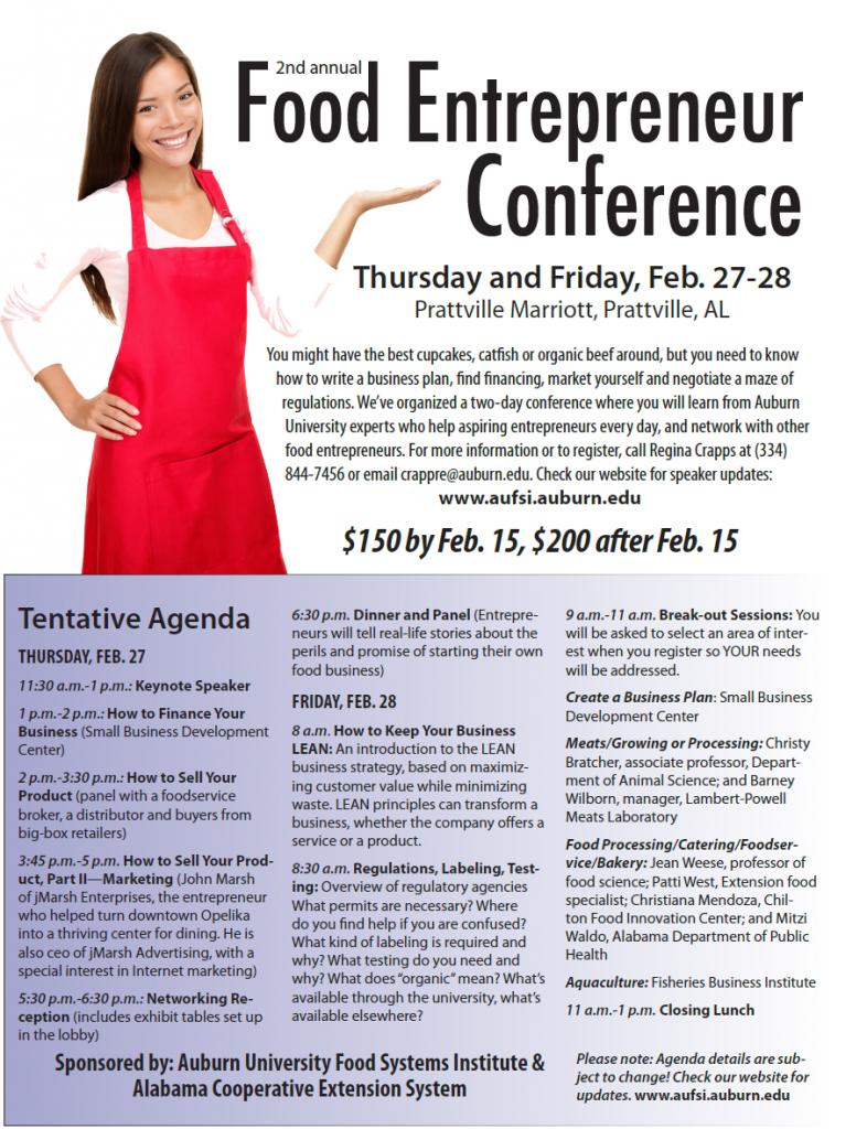 Food Entrepeneur Conference Flyer