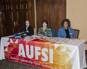 AUFSI Staff at the registration table.