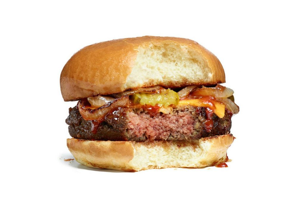 """The """"impossible burger,"""" made of plant-based """"meat."""""""