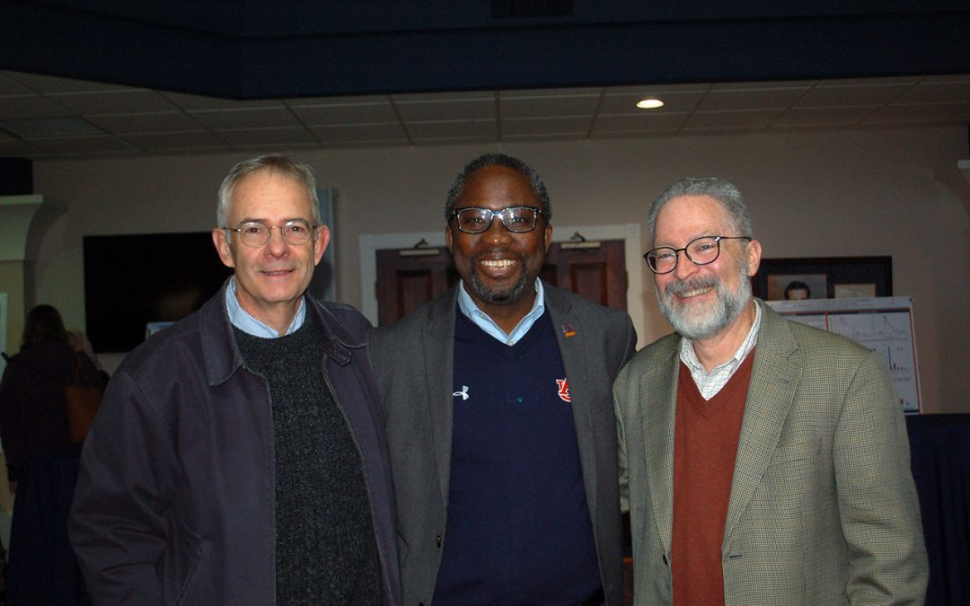Current and former associate deans for research Graeme Lockaby, Henry Fadamiro and Art Appel