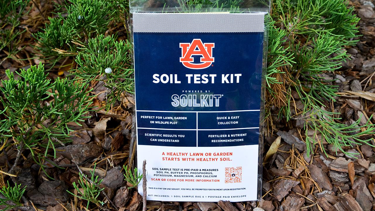Auburn University branded Soil Test Kit by Soilkit for Lawn, Garden, Wildlife Plot Sample Collection and testing